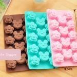 แม่พิมพ์ซิลิโคน รูปตุ๊กตาหมีและดอกไม้ สำหรับฟรีซเก็บอาหารเด็กในตู้เย็น Nana Baby