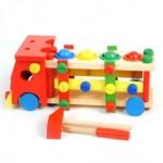 ของเล่นไม้ ประกอบรถ ค้อนทุบบอล ขันน๊อต