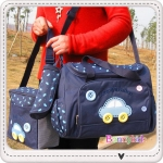กระเป๋าใส่ของเด็กอ่อน เซ็ตรวม 3 ใบ สีน้ำเงิน