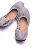 พร้อมส่งค่ะ!!! FOREIGN TRADE SHEEPSKIN COMFORTABLE FLAT SHOES - รองเท้าหนังคัทชู สีเทา ไซส์ 41/8UK สินค้านำเข้าอย่างดี