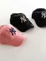New York Yankees hat หมวกแก็ปสีดำ ปัก NY ทรงเบสบอลแค็ป พร้อมส่ง
