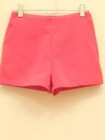 สินค้าขายดี!!! WOMEN CASUAL SHORT PANTS กางเกงขาสั้นผู้หญิง ผ้าสเปนเด็กซ์อย่างดี สีนีออนพิงก์ PINK ไซส์ M พร้อมส่ง