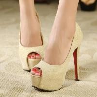 ** ไซส์ 38-44 ** รองเท้าส้นสูง ไซส์ใหญ่ สีทองตามภาพเป๊ะ ส้นสูง 5.7 นิ้ว เปิดปาก ไซส์ยุโรป ใหญ่พิเศษ รองเท้าส้นสูงไซส์ใหญ่ ไซส์ฝรั่ง