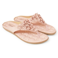 [พร้อมส่ง] ไซส์ 33 36 41 รองเท้าแตะคีบ Flower สีชมพู - KR0291