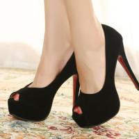 ** ไซส์ 39 ** รองเท้าส้นสูง ไซส์ใหญ่ สีดำ หนังกำมะหยี่ รองเท้าเกาหลี นำเข้า ของแท้ รองเท้าส้นสูงคุณภาพดีมาก เดินไม่โครงเครง ใส่สบายสุดๆ รุ่นขายดี ยอดนิยม