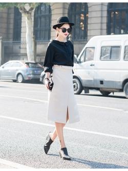 KOREAN SHIRT เสื้อเชิ้ตเเขนยาว สีดำ คอปก ไหล่เปิด สินค้านำเข้าอย่างดี