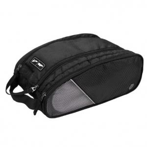 กระเป๋าใส่รองเท้ากันน้ำ สำหรับเดินทาง เล่นกีฬา ผลิตจากโพลีเอสเตอร์คุณภาพสูง เบา ทนทาน มีกระเป๋าซิปด้านข้าง