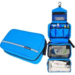 กระเป๋าใส่อุปกรณ์ห้องน้ำ 4 ส่วน ใส่อุปกรณ์อาบน้ำ แขวนได้ ทำจากไนล่อนกันน้ำ ทนทาน พกพาสะดวกมี 5 สีให้เลือก