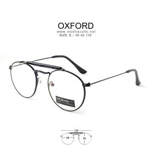 OXFORD - black กรอบโลหะ แว่นวินเทจ กว้าง 128 มม. (size S)