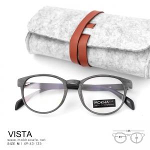 VISTA - gray กรอบแว่นลายไม้ แว่นยืดหยุ่น กว้าง 135 มม.(size M)
