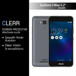 """ฟิล์มกันรอย Zenfone 3 Max ( ZC520TL / 5.2"""") แบบใส"""