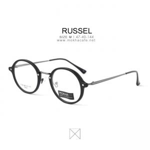 RUSSEL - black กรอบแว่นทรงกลม กว้าง 140 มม.(size M)