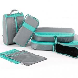 ชุดจัดกระเป๋าเดินทาง 7 ใบ จัดกระเป๋าเดินทาง ท่องเที่ยว ใส่เสื้อผ้า อุปกรณ์ไอที อุปกรณ์ห้องน้ำ ชุดชั้นใน กางเกงใน รองเท้า และถุงอเนกประสงค์ 2 ใบ