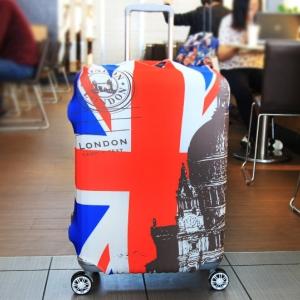 (พิมพ์ลาย ขนาด S) ผ้าคลุมกระเป๋าเดินทาง ขนาด 18 - 20 นิ้ว มี 10 ลาย 10 แบบให้เลือก