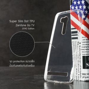 """เคส Zenfone GO 5.5"""" (ZB551KL เท่านั้น) เคสนิ่ม Super Slim TPU บางพิเศษ พร้อมจุด Pixel ขนาดเล็กด้านในเคสป้องกันเคสติดกับตัวเครื่อง (ใส) (DTAC Edition)"""