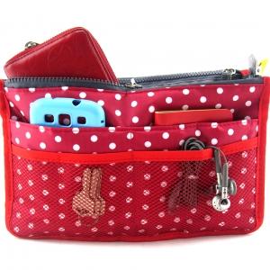 กระเป๋าจัดระเบียบ ลายใหม่ คุณภาพดียิ่งขึ้น จัดระเบียบกระเป๋าถือ หิ้วพกพาได้ มี 6 สี 6 ลาย ให้เลือก Bag in Bag -Organizer Bag