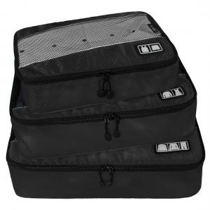 Ecosusi 3 Set Packing Cubes - Travel Organizers - ชุดจัดกระเป๋าเดินทางคุณภาพดีมาก 3 ใบต่อชุด ใส่เสื้อ, กางเกง, กระโปรง, ผ้าขนหนู