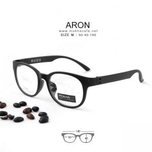ARON - black แว่นทรงเหลี่ยม ULTEM กว้าง 140 มม. (size M)