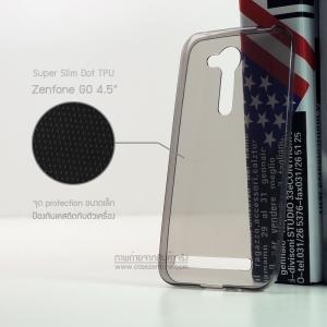 เคส Zenfone GO 4.5 (ZB452KG) เคสนิ่ม Super Slim TPU บางพิเศษ พร้อมจุด Pixel ขนาดเล็กด้านในเคสป้องกันเคสติดกับตัวเครื่อง สีดำใส