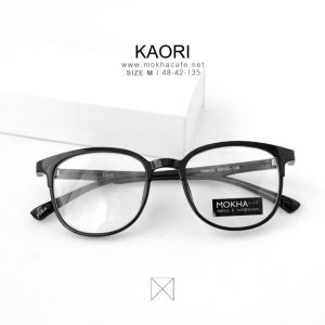 KAORI - black แว่นตาทรงเหลี่ยม TR90 กว้าง 135 มม. (size M)