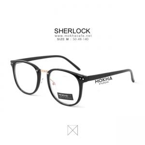 SHERLOCK - black gold กรอบแว่นทรงเหลี่ยม กว้าง 140 มม. (size M)