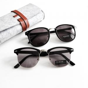 [pre-order] แว่นกันแดด SHERLOCK - black กรอบแว่นทรงเหลี่ยม กว้าง 140 มม. (size M)