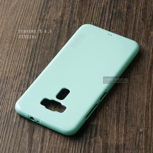เคส Zenfone 3 (ZE552KL) 5.5 นิ้ว เคสนิ่มผิวเงา (MY COLORS) สีเขียว