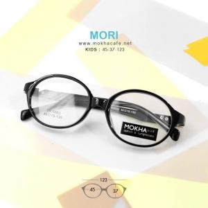 MORI - black แว่นเด็ก กรอบแว่นตาเด็ก 3-6 ขวบ กว้าง 123 มม.