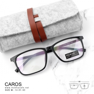 CAROS - black กรอบแว่นทรงเหลี่ยม กว้าง 140 มม.(size M)
