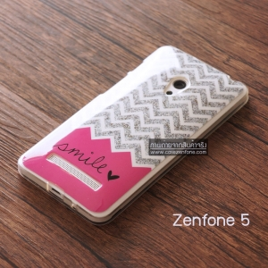 เคส Zenfone 5 เคส TPU ผิวมันพิมพ์ลาย แบบที่ 2 Smile