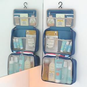 กระเป๋าใส่อุปกรณ์ห้องน้ำ ใส่อุปกรณ์อาบน้ำ แขวนได้ สำหรับเดินทาง ท่องเที่ยว พกพาสะดวกมี 4 สี 4 ลายให้เลือก