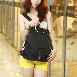 กระเป๋าผ้าแคสวาส 3 way เป็นได้ทั้งกระเป๋าถือ กระเป๋าสะพายหลัง เป้ และสะพายพาดลำตัว ท่องเที่ยว