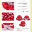 หมวกเด็กหญิง วัย 6-24 เดือน ลายจุด มีระบาย น่ารัก thumbnail 7