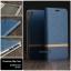 เคส Zenfone Live (ZB501KL) เคสฝาพับหนัง PVC มีช่องใส่บัตร สีน้ำเงิน thumbnail 1