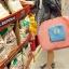 กระเป๋าช้อปปิ้งพับเก็บได้ ผ้าหนา สีสันสดใส ผลิตจากโพลีเอสเตอร์กันน้ำ คุ้มค่า (Street Shopper Bag) thumbnail 21