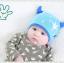 HT399••หมวกเด็ก•• / หมวกบีนนี่-เลขคู่ (สีฟ้า) thumbnail 3