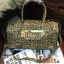 กระเป๋า Guess Gold LeoPard Leather Bowling Bag thumbnail 1