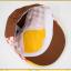 HT521••หมวกเด็ก•• / หมวกเบเร่ต์-ลิงขับเครื่องบิน [สีเบจ] thumbnail 10