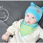เซตหมวก+ผ้าซับน้ำลาย / ลาย Cat Baby (มี 5 สี) thumbnail 4