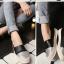 รองเท้าโลฟเฟอร์ไซส์ใหญ่ 41-43 Metallic-cap สีดำ รุ่น KR0589 thumbnail 6