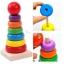 ของเล่นไม้ เรียงห่วงสวมหลัก Rainbow Tower ขนาดสูง 15.5 ซม. thumbnail 1