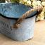 ถัง กระถางต้นไม้สังกะสีมีหูหิ้วเชือกปอ ลาย Flower & Garden thumbnail 8