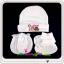 ชุดหมวก ถุงมือ ถุงเท้า ผ้าลิปเข้าชุดกัน (แพ็ค 12 เซ็ต) thumbnail 1