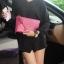 กระเป๋าสะพาย ปรับเป็นคลัชได้ สีช็อกกิ้งพิงค์ รุ่น KEEP Doratry shoulder &clutch bag thumbnail 4