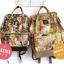 กระเป๋าเป้ Anello x Legato Largo ; Botanical & Cat nylon Cap fasteners Backpack Beige Button thumbnail 5