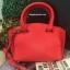 กระเป๋า CHARLES & KEITH TRAPEZE CITY BAG 2016 สีแดง กระเป๋าถือหรือสะพายหนัง Saffiano thumbnail 2