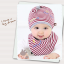 เซตหมวก+ผ้าซับน้ำลาย / ลาย Lovely Baby (มี 6 สี) thumbnail 5