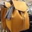 กระเป๋าเป้ Zara Backpack With Scarf สีเหลือง ราคา 1,290 บาท Free Ems thumbnail 3