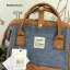 กระเป๋า Anello emporium dark brown( Limited edition หนัง+ผ้า) ขนาดมินิ กำลังดี thumbnail 3