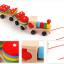 ของเล่นไม้ รถไฟลาก บล็อคไม้สวมหลัก เสริมพัฒนาการ thumbnail 3